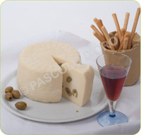Fresh Sheep's Cheese with green olives